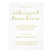 Elegant Rehearsal Luncheon Personalized Announcement