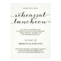 Elegant Rehearsal Luncheon Invitations