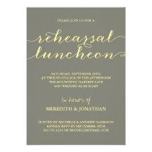 Elegant Rehearsal Luncheon Personalized Invite