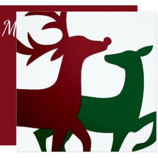 Elegant reindeer card