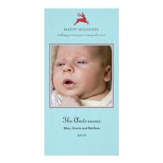 Elegant Reindeer Christmas Photo Card