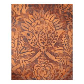Elegant Renaissance Antique Leather Damask 11.5 Cm X 14 Cm Flyer