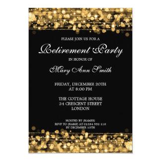 Elegant Retirement Party Gold Sparkles 13 Cm X 18 Cm Invitation Card