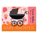 Elegant Retro Baby Carriage - Baby Shower Party Personalised Invite
