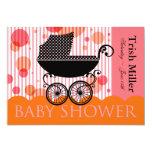 Elegant Retro Baby Carriage - Baby Shower Party 13cm X 18cm Invitation Card