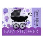 Elegant Retro Baby Carriage - Baby Shower Party Custom Invitations