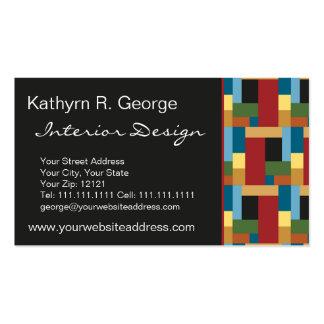Elegant Retro Blocks Modernist Chic Business Card
