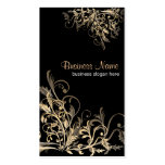 Elegant Retro Gold Flower Swirls 2 Pack Of Standard Business Cards