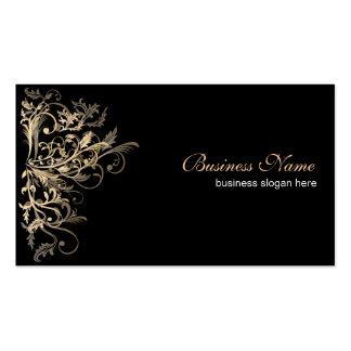 Elegant Retro Gold Flower Swirls Pack Of Standard Business Cards