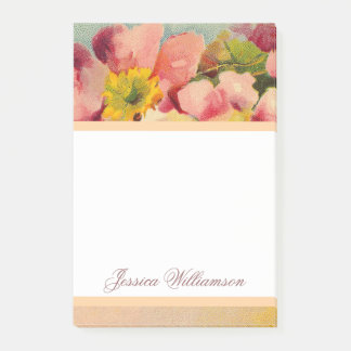 Elegant Retro Primeroses Floral Post-it Notes