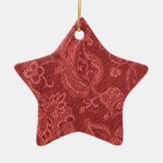 Elegant Retro Vintage Cranberry Star Ornament