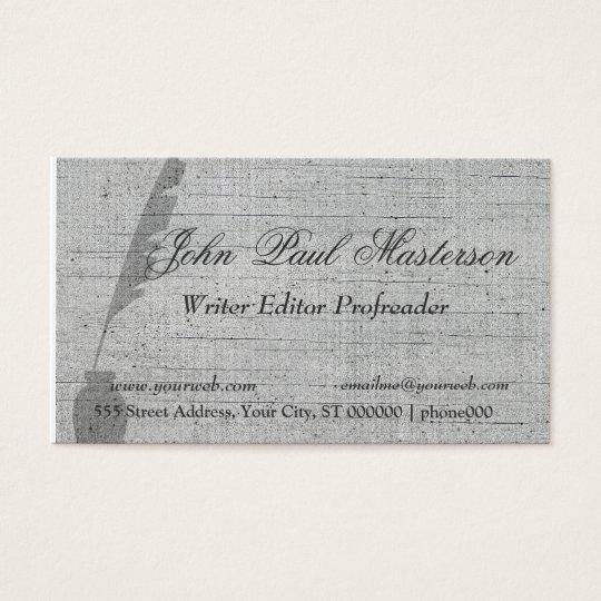 Elegant Retro Vintage Feather Quill Writer