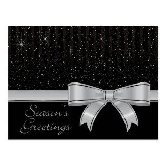 Elegant ribbon and stars postcard