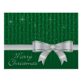 Elegant ribbon and stars postcard