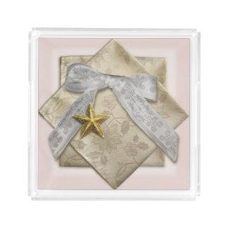 Elegant Ribbon Perfume Tray, CustomizableR Acrylic Tray