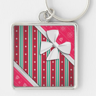 Elegant Ribbons and Christmas Ugly Sweater Key Chains