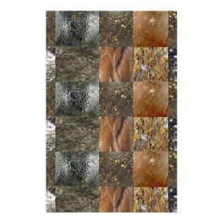 Elegant Rich Prints Rare Earth Crystals n Mosiac Personalized Stationery