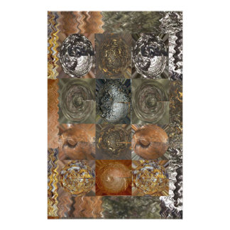 Elegant Rich Prints Rare Earth Crystals n Mosiac Stationery Paper