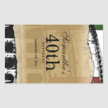 Elegant Roman Coliseum Customisable Wine Label Rectangular Sticker