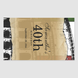 Elegant Roman Coliseum Customizable Wine Label