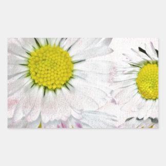 Elegant Romantic Bridal Shower Daisies Wedding Rectangular Stickers