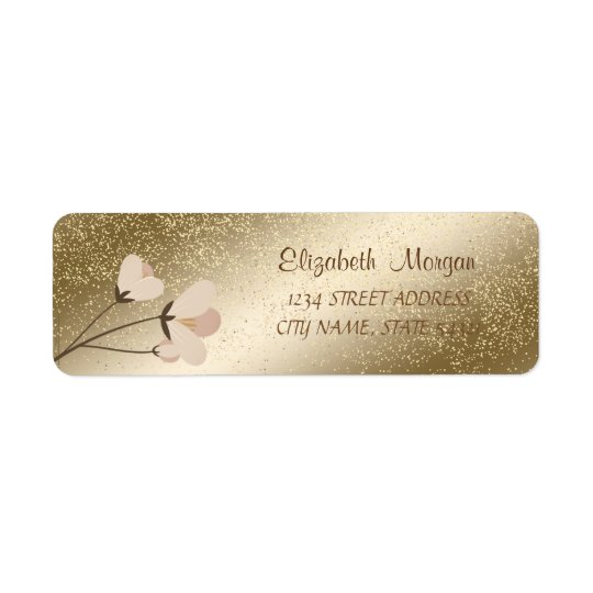 Elegant  Romantic,Confetti  Flowers  Address Label