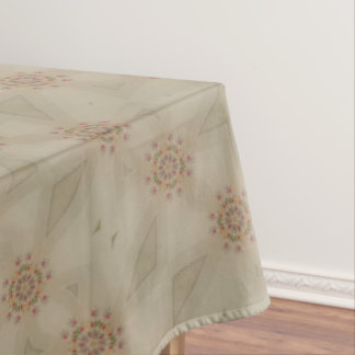Elegant Romantic Kaleidoscopic Flowers Tablecloth