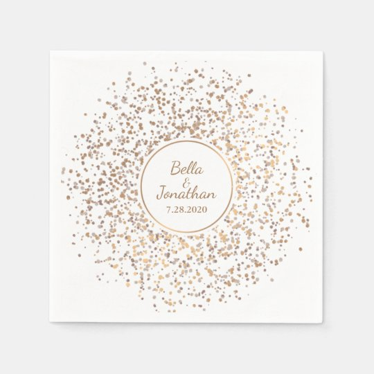 Elegant Romantic Wedding Gold & Silver Confetti Paper