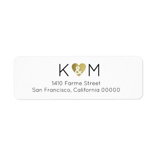 elegant romantic wedding white return address label