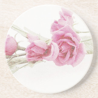 Elegant Rose Beverage Coaster