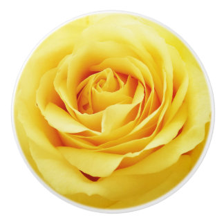 Elegant rose ceramic knob