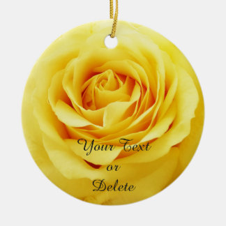 Elegant rose christmas ornament
