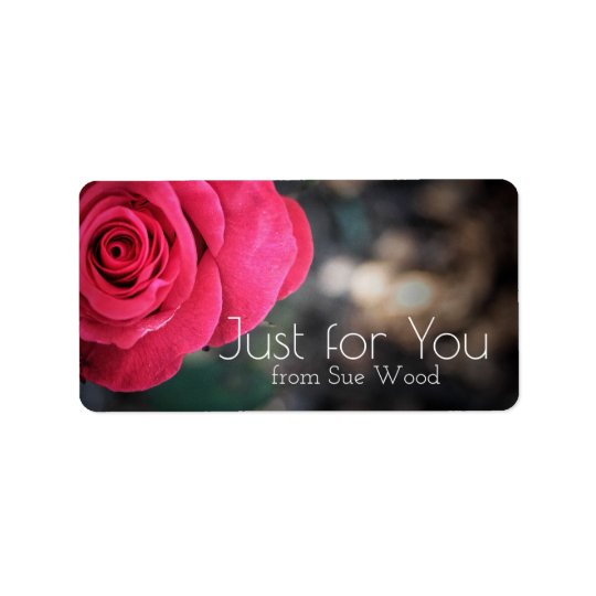 Elegant Rose Custom Just for You Gift Labels