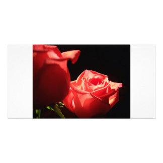 Elegant Rose Customized Photo Card