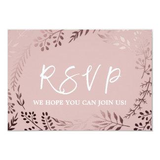 Elegant Rose Gold and Pink Menu Choice RSVP Card
