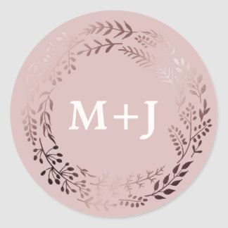 Elegant Rose Gold and Pink Wedding Envelope Seals