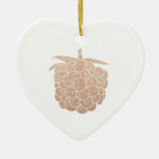 elegant rose gold berry ceramic heart decoration
