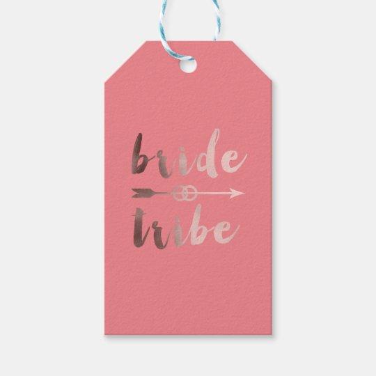 elegant rose gold bride tribe arrow wedding rings