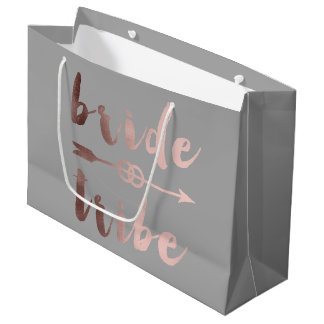 elegant rose gold bride tribe arrow wedding rings large gift bag