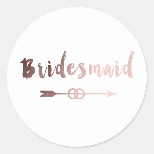 elegant rose gold bridesmaid arrow wedding ring classic