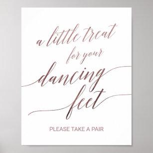 b365af816 Elegant Rose Gold Calligraphy Dancing Feet Sign