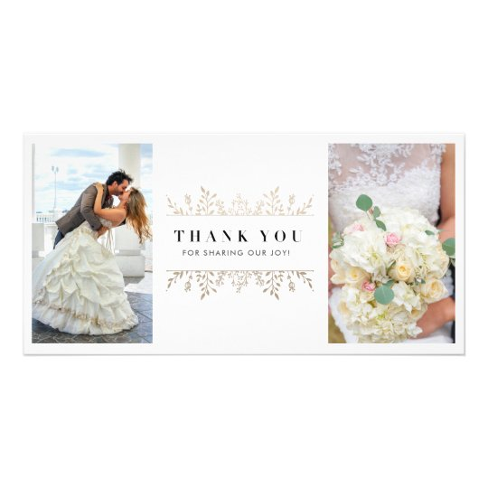Elegant Rose Gold Chic Wedding 2 Photo Thank