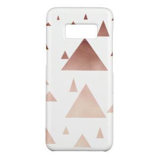 elegant rose gold geometric triangles pattern Case-Mate samsung galaxy s8 case