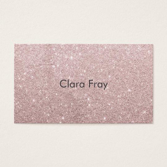 elegant rose gold glitter business card
