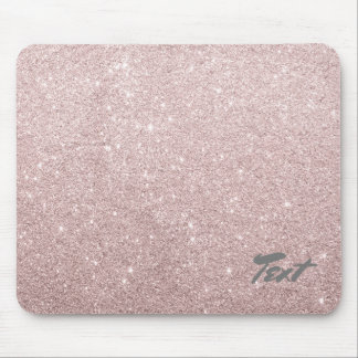 elegant rose gold glitter mouse mat