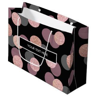 elegant rose gold glitter pastel pink confetti large gift bag