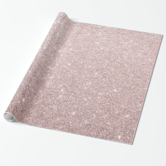 elegant rose gold glitter wrapping paper