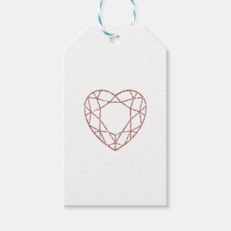 Elegant rose gold heart wedding favor tag