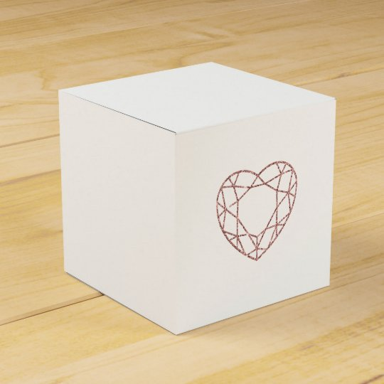 Elegant rose gold heart wedding favour box