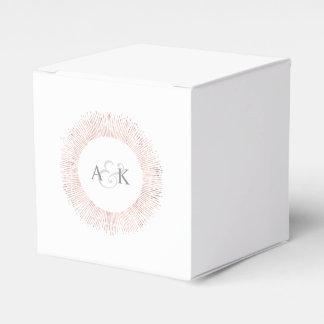 Elegant rose gold monogram wedding favor box